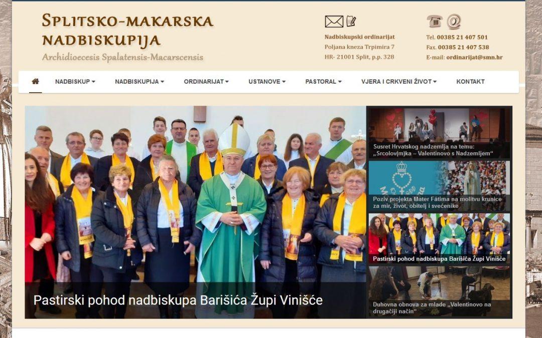 WEB portal Splitsko-makarske nadbiskupije objavio je članak o nadbiskupu u Vinišću